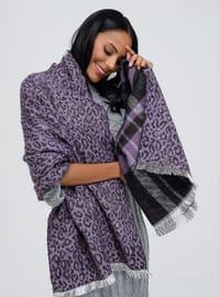 Acrylic - Purple - Plain - Shawl Wrap