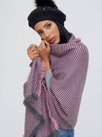 Acrylic - Pink - Printed - Shawl Wrap