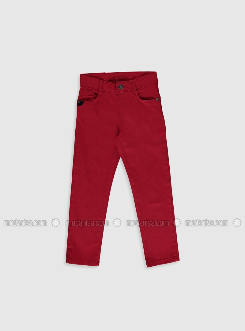 Red - Boys` Pants