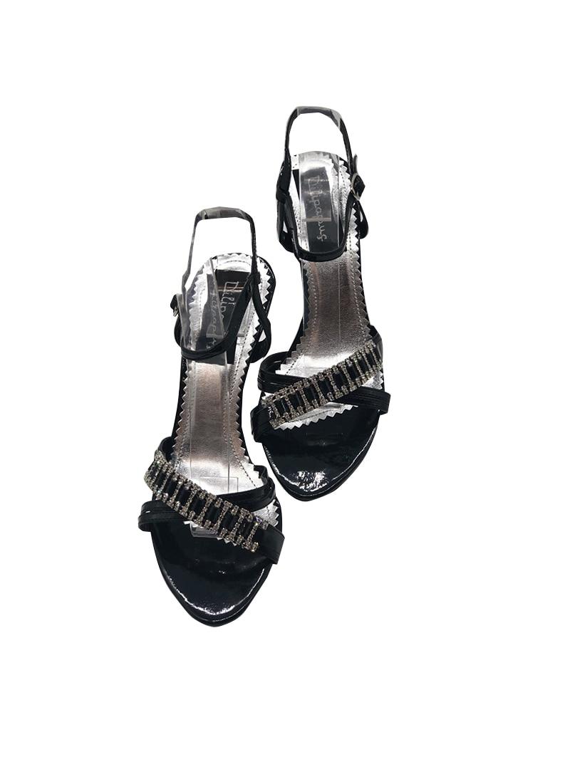 Tesettür Abiye Ayakkabı Dilipapuç Siyah Kadın 39