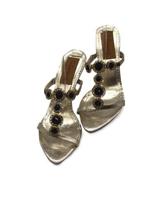 Gold - High Heel - Slippers