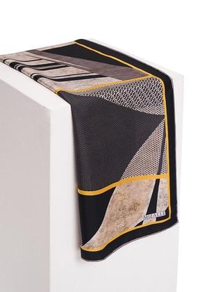 Yellow - Leopard - %100 Silk - Scarf
