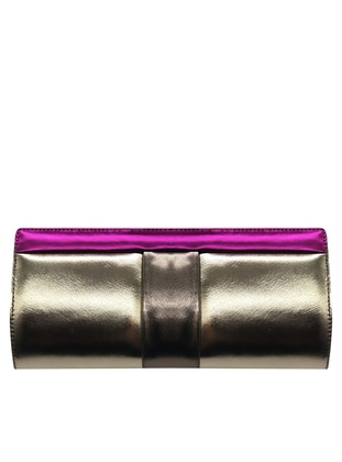 Gold - Fuchsia - Clutch - Clutch Bags / Handbags