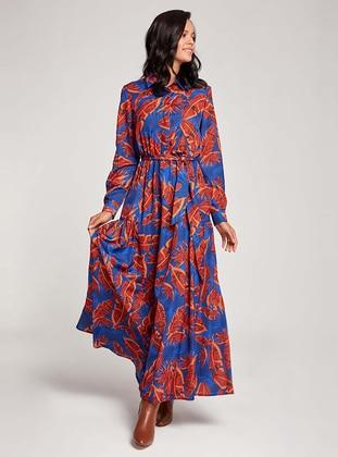 Saxe - Floral - Point Collar - Dress