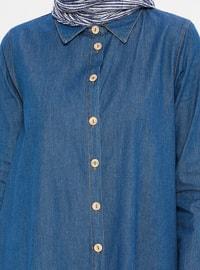 Blue - Point Collar - Denim -  - Tunic