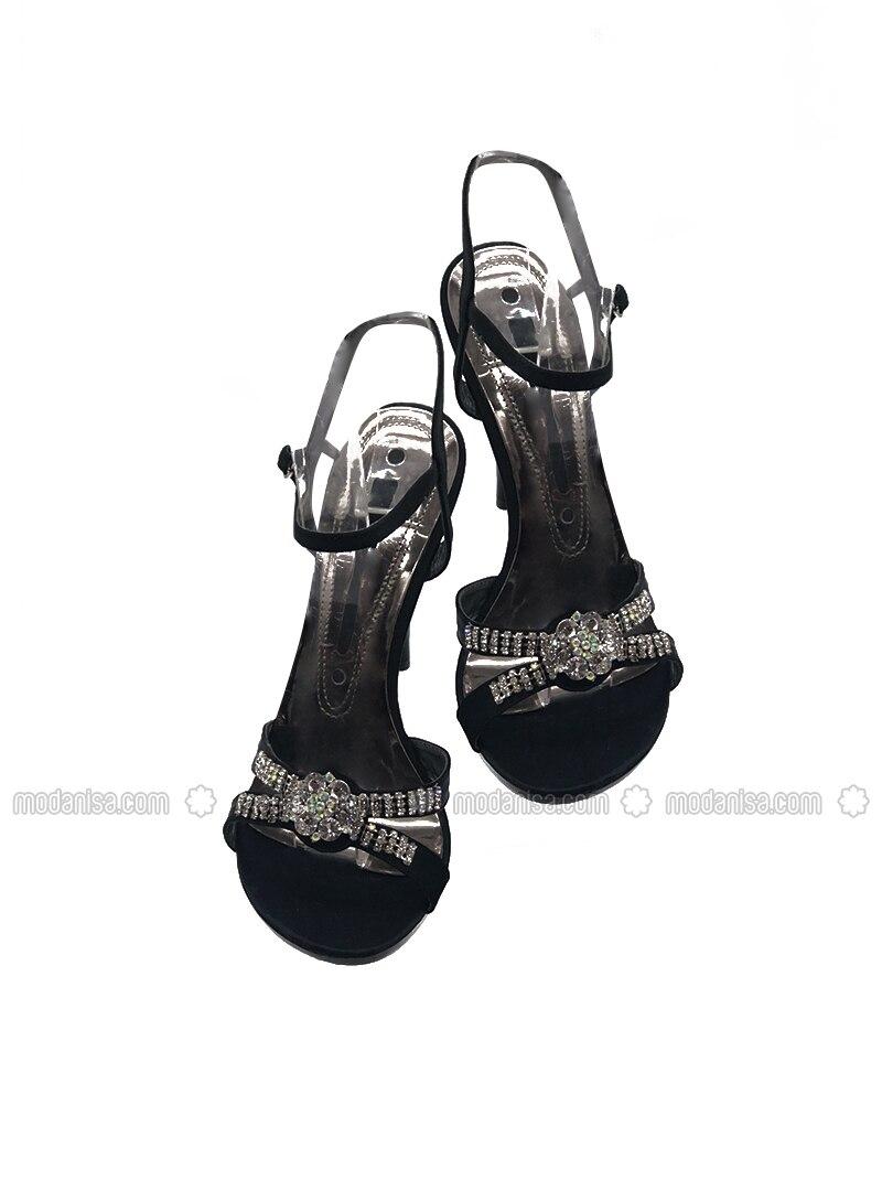 Black - High Heel - Evening Shoes