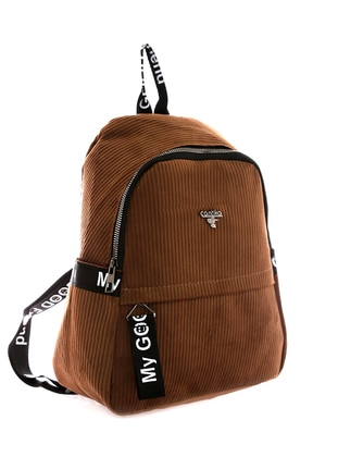 Brown - Backpack - Backpacks