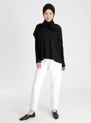 White - Denim - - Pants