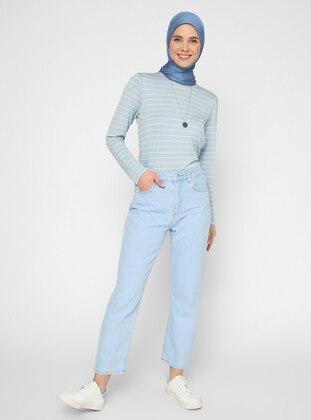 Blue - Denim - - Pants - Benin