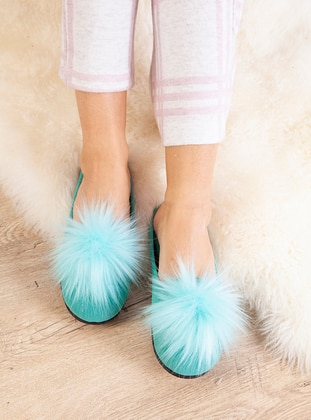 Casual - Turquoise - Home Shoes