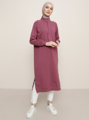 Dusty Rose - Polo neck -  - Tunic - Everyday Basic