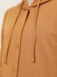 Tan - Unlined - Cotton - Topcoat