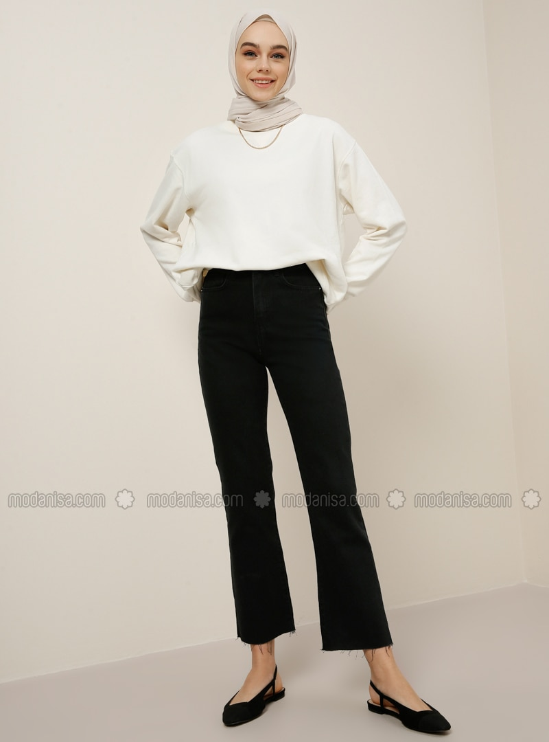 Black - Denim -  - Pants