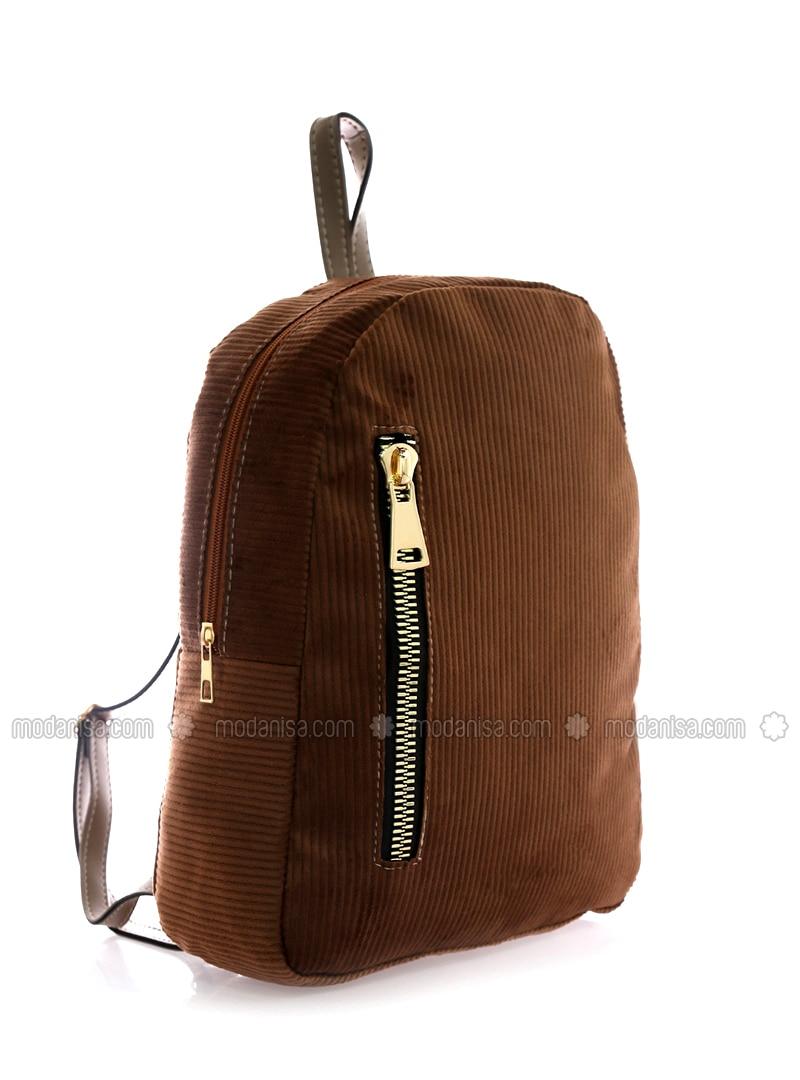 Brown - Backpack - Backpacks