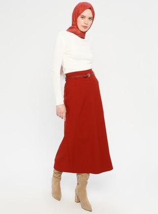 Terra Cotta - Half Lined - Viscose - Skirt