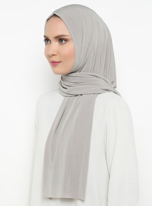 Gray - Plain - Combed Cotton - Shawl