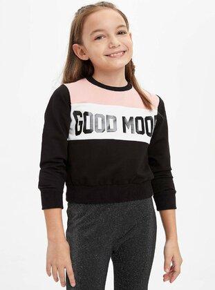 Black - Girls` Sweatshirt