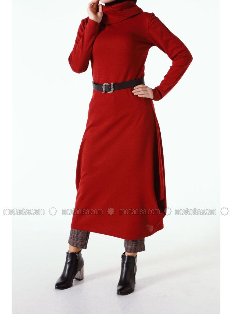 Maroon - Plus Size Dresses