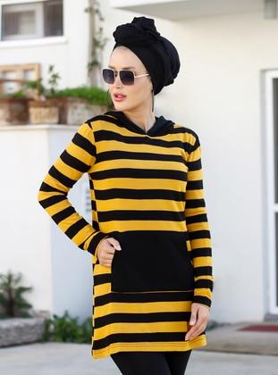 Mustard - Multi - Stripe - Acrylic -  - Tunic