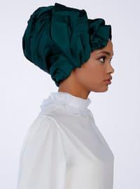 Emerald - Plain - Viscose - Instant Scarf