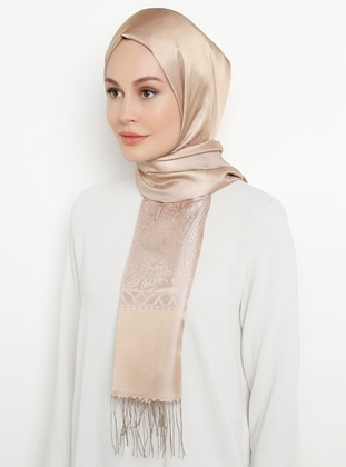 Powder - Printed - Fringe - Viscose - Shawl