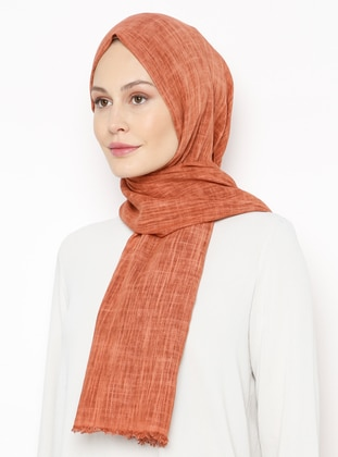 Terra Cotta - Plain - Linen -  - Shawl
