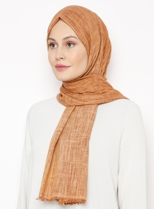 Cinnamon - Plain - Linen -  - Shawl