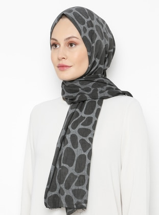 Anthracite - Printed - Plain -  - Shawl