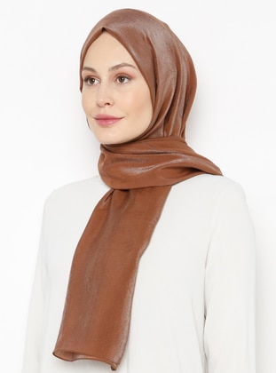 Brown - Printed - Plain - Shawl