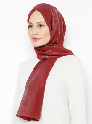 Maroon - Printed - Plain - Shawl