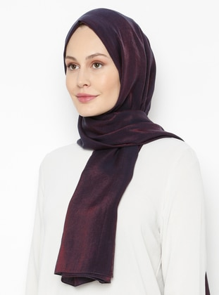 Purple - Printed - Plain - Shawl