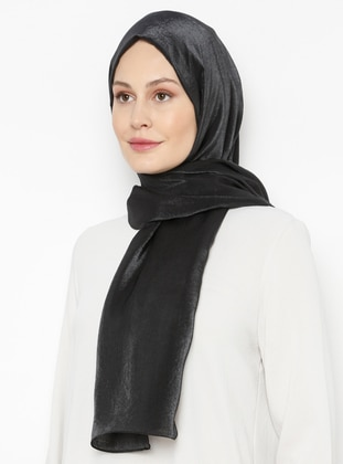 Black - Printed - Plain - Shawl