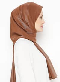 Brown - Printed - Plain - Shawl
