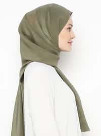 Khaki - Printed - Plain - Shawl