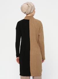 Mink - Polo neck - Acrylic - Wool Blend - Tunic