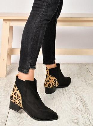 Leopard - Black - Boot - Boots