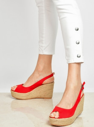 Red - High Heel - Boots