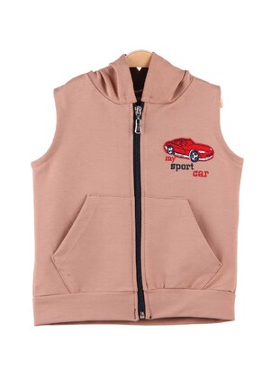 Brown - Boys` Vest