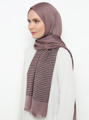 Mink - Striped - Plain - Shawl