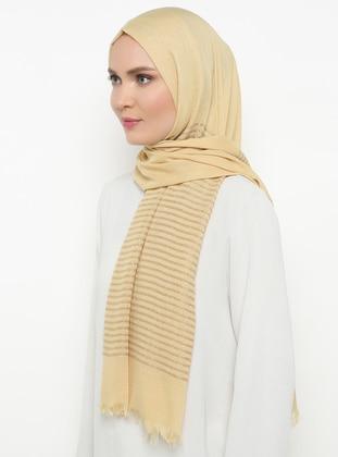 Yellow - Striped - Plain - Shawl