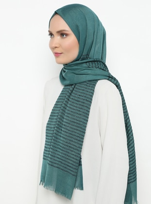 Emerald - Striped - Plain - Shawl