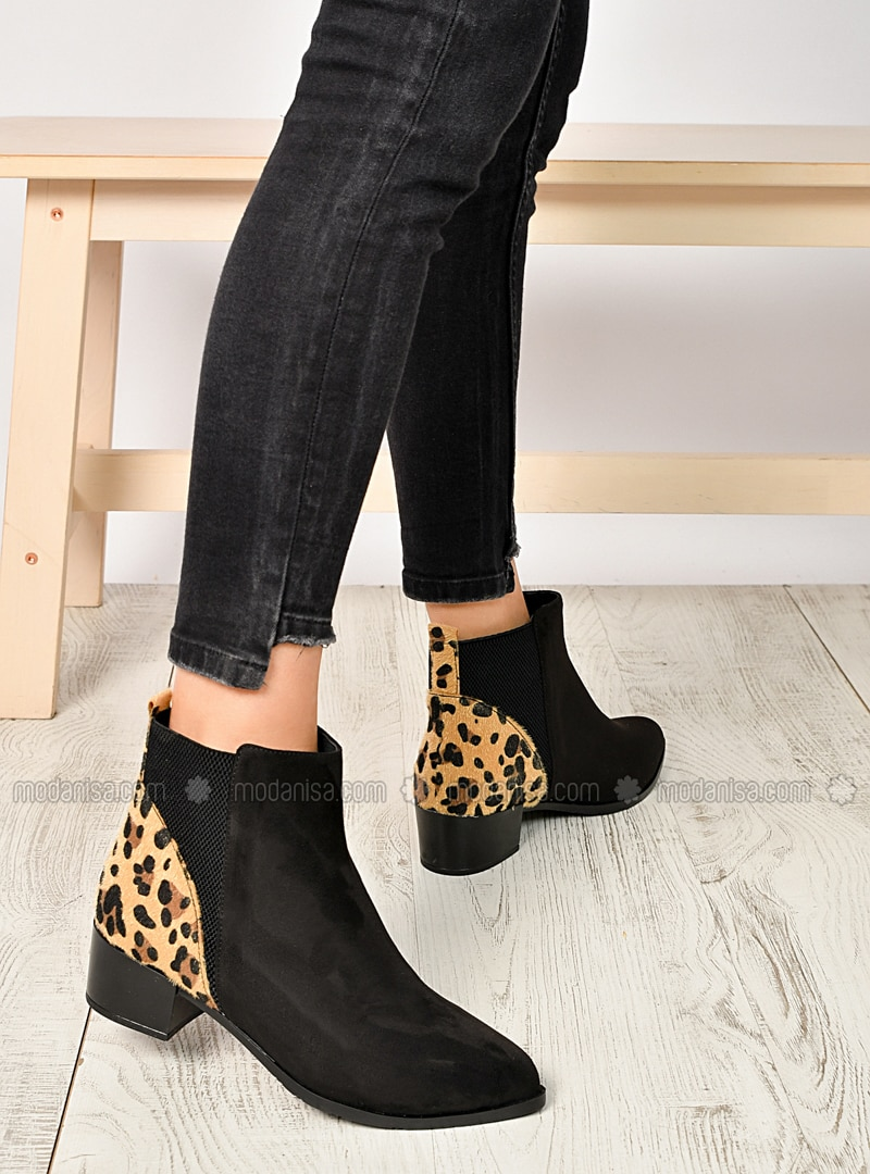 Leopard - Black - Boot - Boots