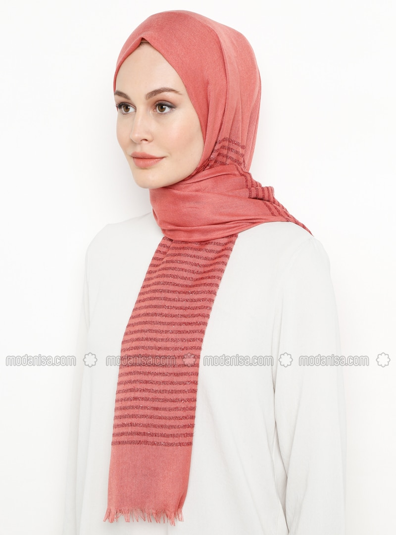 Onion Skin - Striped - Plain - Shawl