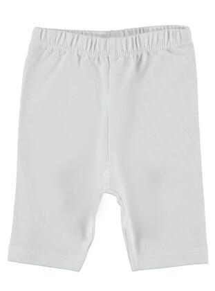 White - baby tights - Kujju