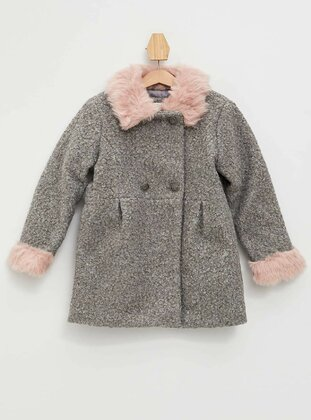 Gray - Girls` Jacket - DeFacto