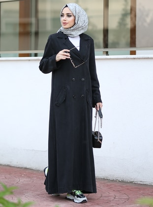 Black - Unlined -  - Trench Coat