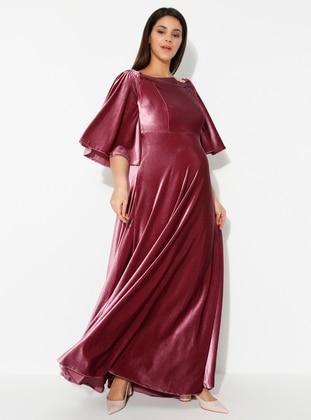 Dusty Rose - Dusty Rose - Boat neck - Unlined - Maternity Dress