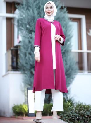 Plum - Unlined - Crepe - Dress