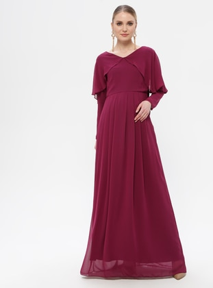 Plum - Crew neck - Fully Lined - Maternity Dress - Moda Labio