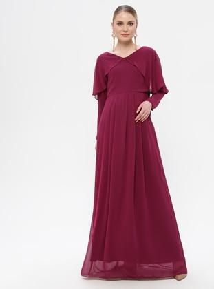 Plum - Plum - Crew neck - Fully Lined - Maternity Dress - Moda Labio